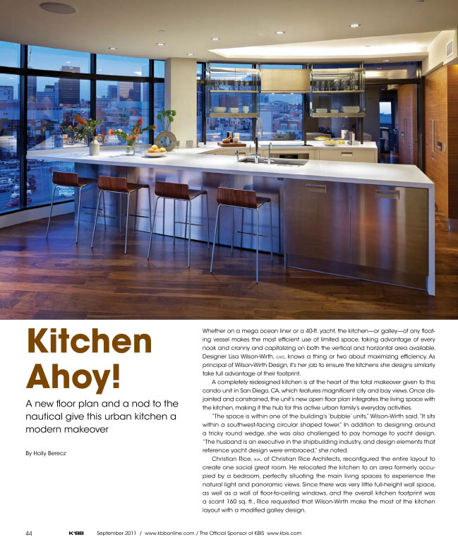 Harbor Club Residence Featured in KBB Magazine
